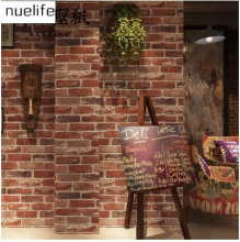 Retro Nostalgic 3D Stereo Brick Wallpaper Cafe Bar Restaurant Culture Stone Red Brick Wallpaper