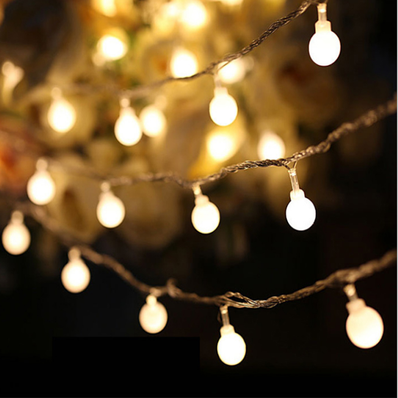 2M 20 Led Cherry Balls Fairy String Decorative Lights Battery Operated Wedding Christmas Outdoor Patio Garland Decoration(China)