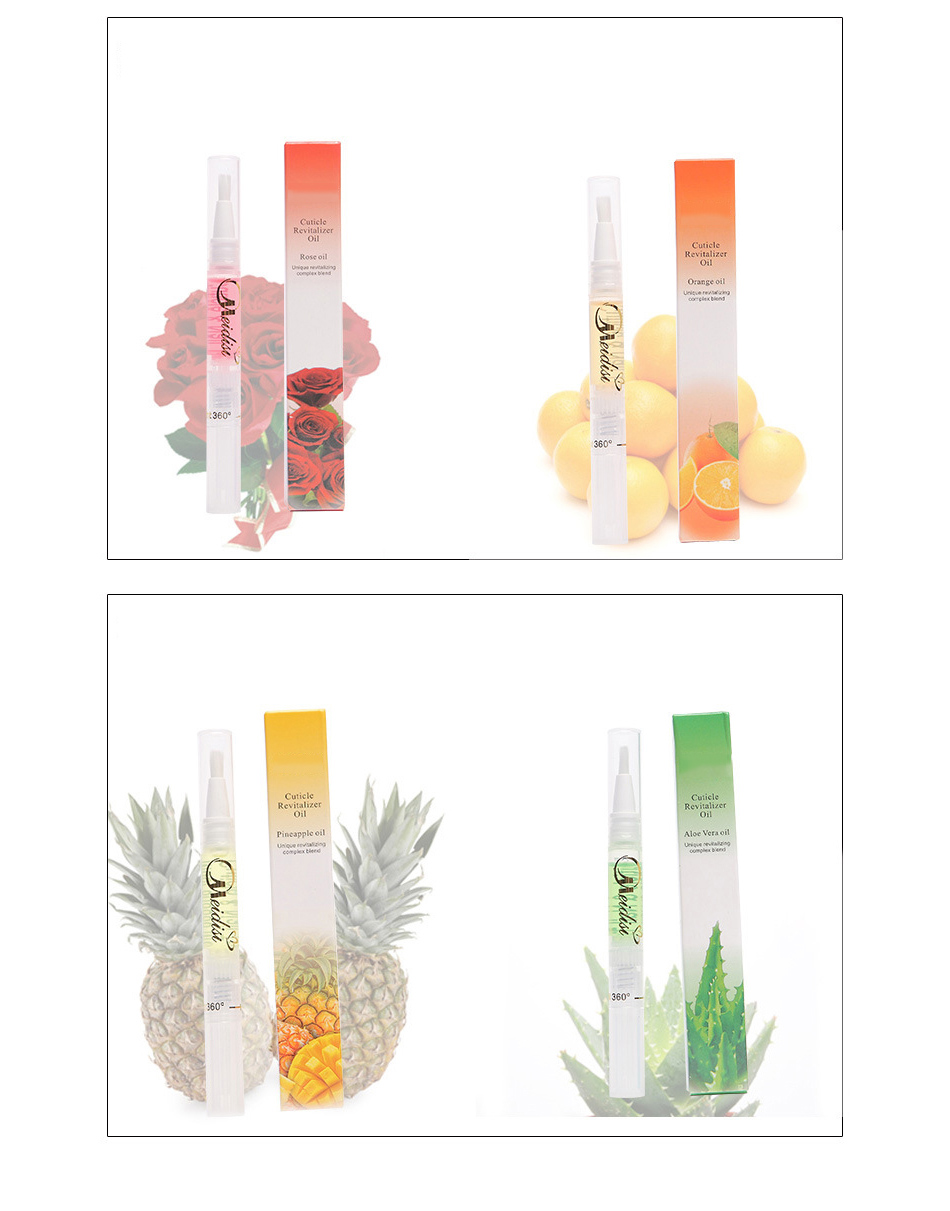 Flower Fruit Nail Nutrition Oil Pen Moisturizing Cuticle Revitalizer Anti-hangnail Nail Soften Treatment Oil Manicure Protector 20