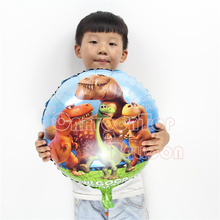 New style dinosaur ballon 18inch round 10pcs/lot animal cartoon balloons mylar globos inflatable air balloons for party decorate