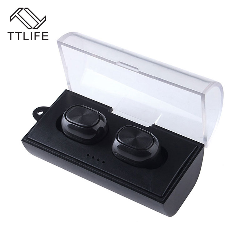 TTLIEF Mini Twins True Wireless Earphone Bluetooth TWS Stereo Music Earbuds Style Headphone with Charging Box for Phones<br>