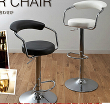 European style bar chair tall tables and chairs Simple makeup stool lift rotating back of a chair(China)