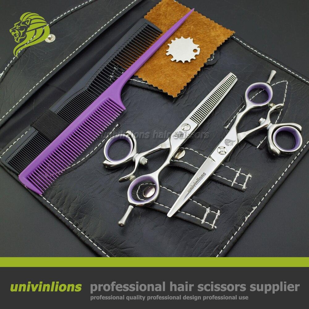 5.5 VG10 swivel hair scissors professional hairdressing scissors swivel thumb hair cutting shears rotary rotating thumb shears<br>