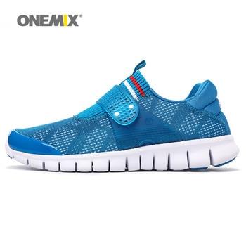 Onemix nueva llegada hombres calzado deportivo fresco athletic zapatos transpirables zapatos corrientes de las mujeres súper ligero zapatos para caminar size36-45