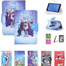 Histers Cartoon Cover for DEXP Ursus A270i/A170i Joy 7 Inch Tablet PU Leather Stand Case for Kids 3 Gifts(China)