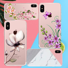 For iPhone 4 4S 5 5S SE 5C 6 6S 7 Plus Lotus leaf blossom Phone case coque Back cover