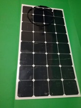 2017 newly flexible solar panel 100W PV SOLAR PANEL 12V/mono crystalline solar cell/ panel/ module(China)
