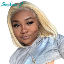 1B 613 Ombre Blonde 13x6 Lace Front Human Hair Wigs For Black Women Brazilian Short Bob Straight Frontal Wigs pre plucked(Китай)