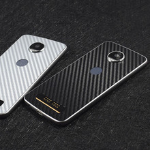 New 3D Carbon Fiber Skins Protective Film Wrap Skin Cellphone back paste Protective Film Sticker For Motorola Moto Z/Moto Z play(China)