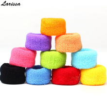 Buy Larissa 12Pcs towel hair rope women Candy color elastic hair bands rubber band holders ties thick wide girl hair accessories for $3.98 in AliExpress store
