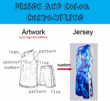 Sublimation printing colorful pattern basquete jersey custom personalized stitching basketball Jerseys Pinstripe suit uniforms(China)