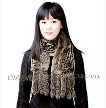 Free Shipping CX-S-62A Genuine Rex Rabbit Fur Scarf Tying Women Winter Scarves Wholesale Retail Real Fur Scarves(China)