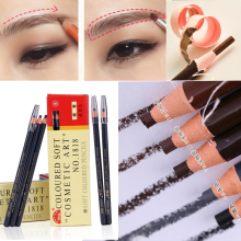 12pcs/box Hot Brand Professional Eyebrow Pencil Makeup Waterproof  Pull Eye Brow Pen Eyebrow Enhancers Makeup artist recommended