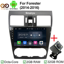 ROM 32GB 9 Inch 1024x600 Octa Core Android 6.0.1 Car DVD Player Fit Subaru Forester 2014-2016 Stereo Radio TV 4G GPS Navigation(China)