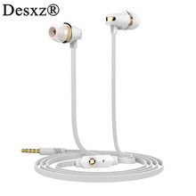 Desxz JM23 Headphones Stereo Earphones Super Bass Headset Earbuds Noise Reduction Handsfree Earpieces With Mic for cell phone(China)