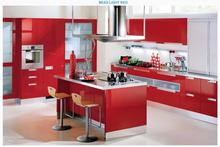 500*122CM PVC Waterproof Self adhesive Decorative Film Red Wallpaper Kitchen Cabinet Furniture Renovation Stickers