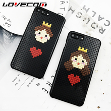 LOVECOM Cool Cute Cartoon Fashion Prince Building Block Bricks Handmade DIY Hard Back Cover For iPhone 6 6S Plus Phone Case