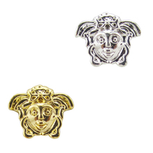 Buy 10pcs Medusa nail metal gold/silver studs beauty tool decorations charms 3d jewelry YX216 for $1.62 in AliExpress store