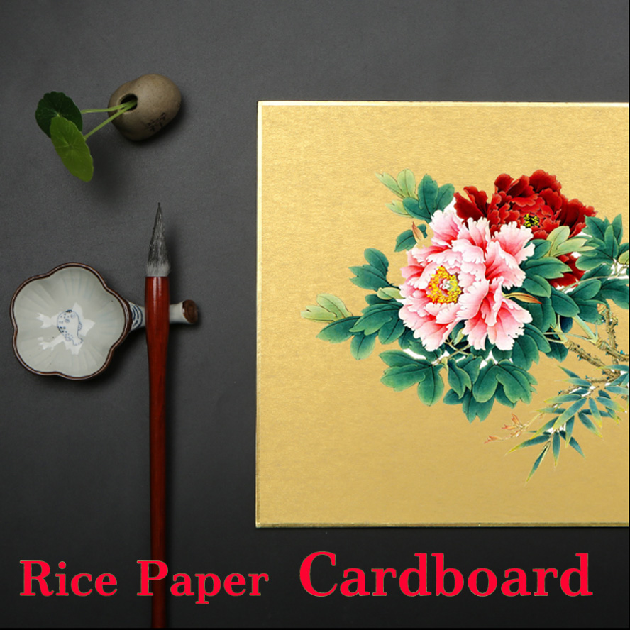 Archaistic Chinese Rice Paper Cardboard Calligraphy Painting Canvas<br>