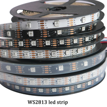 Newest LED 5V WS2813 1m/4m/5m 30/60 leds/m Smart Pixel Led Light Black/White PCB WS2813 IC IP30/IP67 Ambilight Led Strip Light(China)