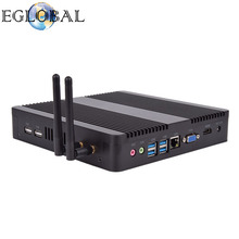 Eglobal V8 Fanless Mini PC Desktop Computer Intel Core i7 i5 7200U/5250U/4200U Win10 Linux 4K HTPC barebone mini pc Nettop Nuc(China)