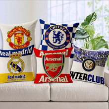 World Cup Germany France Spain Italy Flag Team Logo Pillow Cover Cushions No Inner Core Pillow Case Linen Pillowslip(China)