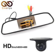 Sinairyu 5 Inch TFT Screen Car Rearview Mirror Monitor With Parking Camera . The Camera Can Change Parking Line and Mirror Image(China)
