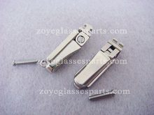 no rocking spring hinge for bamboo eyeglass horn eyeglass screw on nickel color fast shipping patented hinges TSH-58