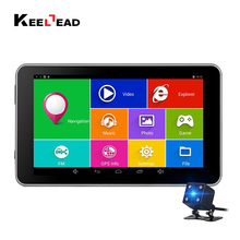 KEELEAD 7 inch car Android GPS navigation Capacitive 512MB 16GB Bluetooth WIFI Russia Europe map Truck Vehicle Navigator