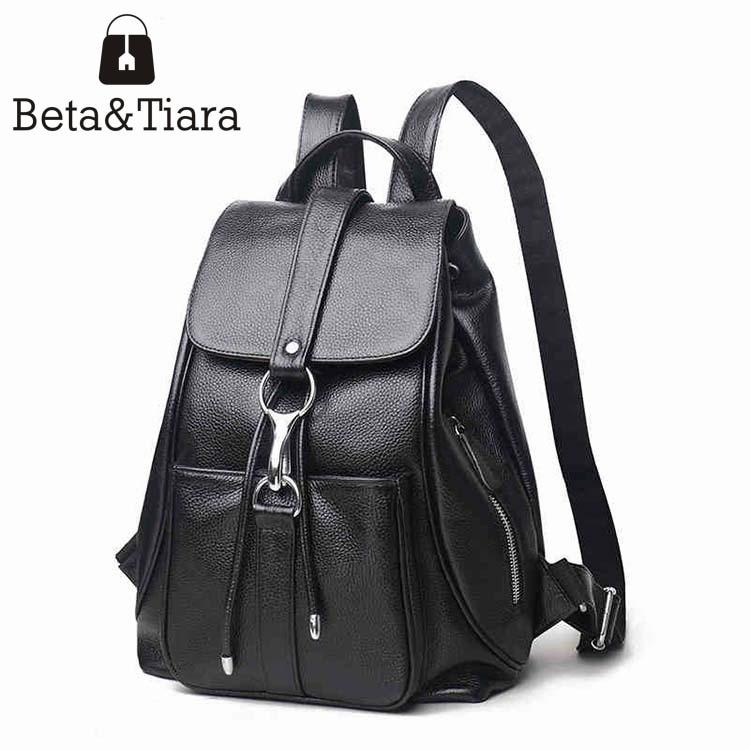 New cowhide korean backpack women genuine leather bag pack leather backpack female woman bag 2017 fashion bags rugtas<br>