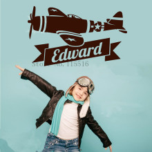 E502 Wall Stickers Home decor DIY poster Decal mural Vinyl Airplane Aircraft Planes Navy Warbird Wall Custom Name
