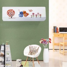 Indoor 1.5p Wall Mounted Air Conditioner Cover Decoration Hood Embroidery 80x20 / 86x20 / 92x18cm Couple Birds Tree Floral(China)