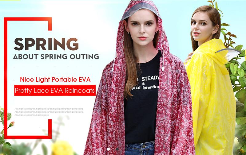 Women Lace Raincoats 11