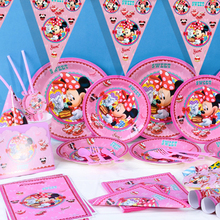 Disney Minnie Mouse Girls Kids Birthday Party Decoration Set Mickey Party Supplies Baby Birthday Party Pack event party supplie
