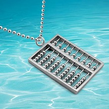 Free shipping 925 sterling silver fashion retro Korean abacus pendant necklace, Ms. Long sweater chain birthday gift