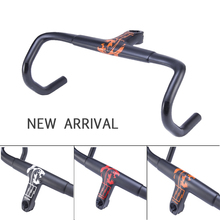 White/orange/red Sports Cycling Carbone Integrated Carbon Stem Handlebar Bicycle Road Bike Bar UD 2017 Support Computer Mount(China)