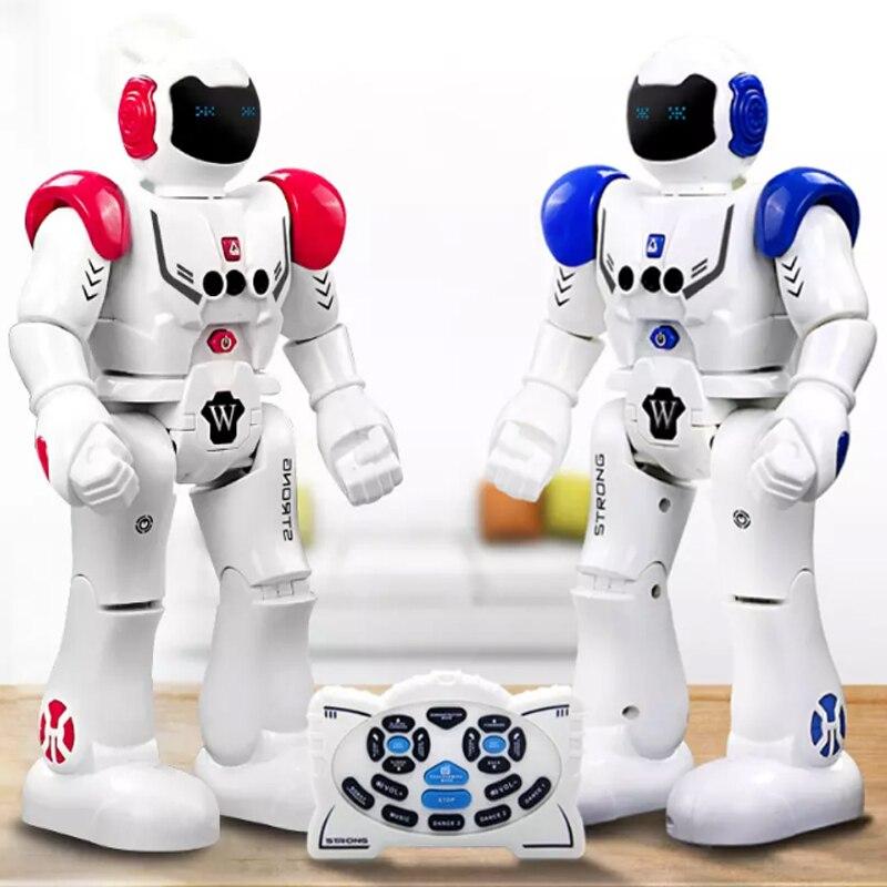 Wholesale 6pcs RC Intelligent Robot Smart Programmable Robot Walk Slide Dance Music Talk Demostration Interactive Inductive Toys<br>
