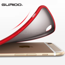 GURIOO Cases for Apple iPhone 6 6s 7 Plus Covers Matte Soft TPU Silicone i6 Cover 6 6S Plus Protective Case Full Cover(China)