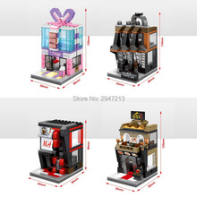 4 PZ sembo block compatible lepin city OMEGA watch shop Korean cuisine clothing Ornaments shop Building blocks Toys for children