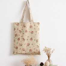 Women Floral Printed Sackpack Lanyard Bag Casual Canvas Bag Travel Beach Bag Ladies School Cool bag