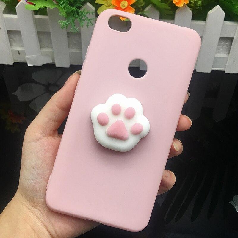 3d Squishy Cat Silicon TPU Soft Case For Xiaomi Redmi 5 plus 4X 4A 3S note 5 pro Candy Color Back Cover Redmi 5A prime 3 4 Cases (10)