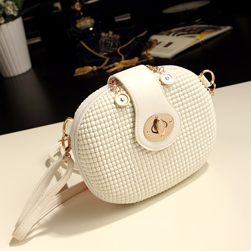 Free shipping Best Selling g New arrival 2015 summer mini candy color white messenger bag small bag womens bags<br>