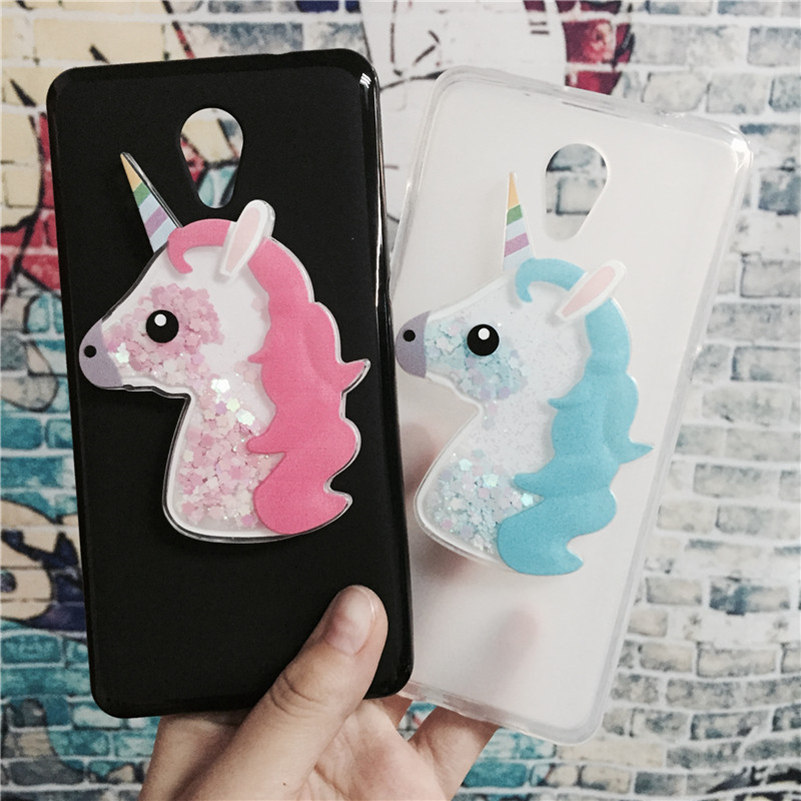 3D Unicorn Quicksand Liquid Soft Silicone Case Lenovo Vibe S1 Phone Cover Cartoon Diamond Funda Coque Fashion Owl