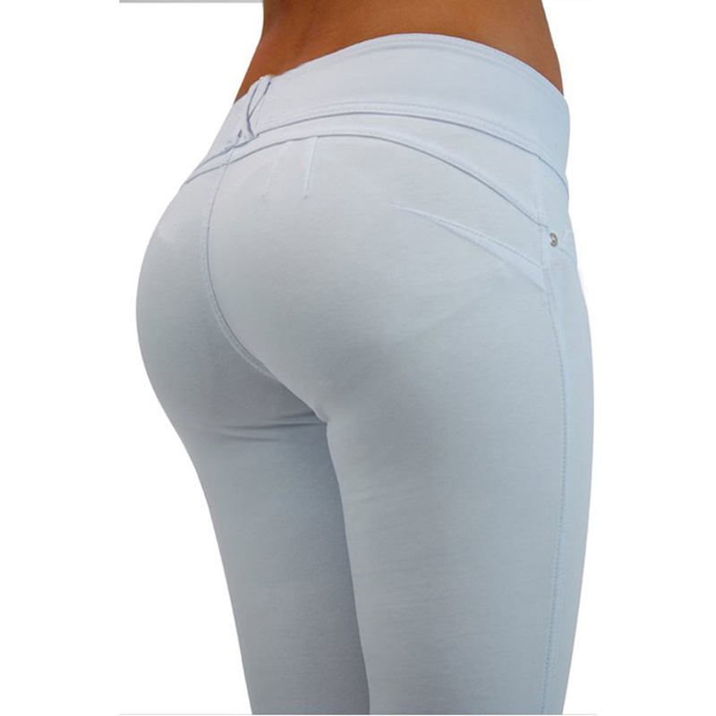 Sexy Push Up Leggings, Women's Denim Leggings, Casual Elastic Jeggings 17