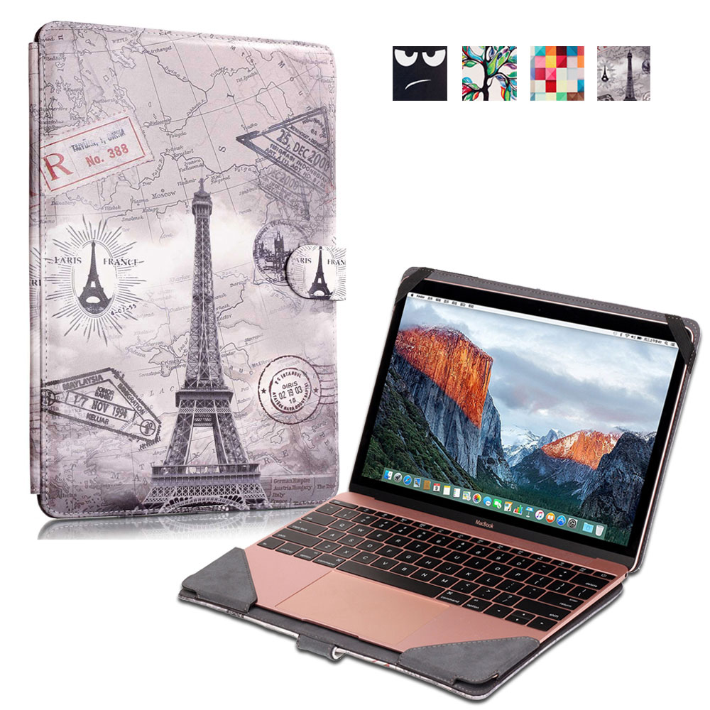Vintage Laptop Protective Sleeve Case Bag for Macbook 12 Inch, Prints Artistic PU Notebook Computer Pouch<br><br>Aliexpress