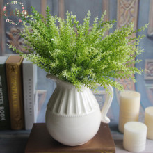 1Bunch Artificial Plant Fake Leaves Bouquet Wedding Flower Floristry Party Home Decorative 2 Colours(China)