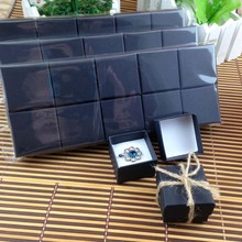New Matt Black Ring Box High Quality Mult Fuction For Ring Also Can Put Earring (Custom Logo Cost Extra MOQ : 1000 PCS )(China)
