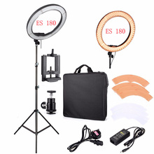 "LED Ring Light For Camera Photo/Studio/Phone/Video 12""55W 5500K Photography Dimmable Ring Lamp with Plastic Color/Tripod Stand"