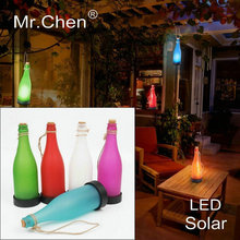 Solar Waterproof Automatic Sensor Creative Park Landscape Garden Bar Cafe Tea Rooftop Terrace Novelty Lamp Led Bottle Light