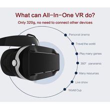 VR07 All In One Allwinner H8 Octa Core Andriod 4.4.2 1080P 3D Glasses WIFI Bluetooth Immersive VR Box Headset Media Movie Player(China)